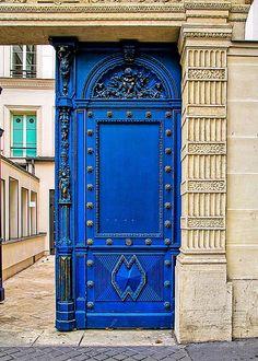Blue Door Greeting Card by J Pruett