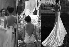 Modern Brides – Top Dramatic and Intricate Back Designs of Wedding Dresses 2013 Tulle & Chantilly