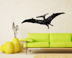 Dinosaur Animal Housewares Wall Vinyl Decal Art Design Murals Interior Bathroom Home Decor Sticker Removable Room Window SV5302 by SuperVinylDecal on Etsy https://www.etsy.com/listing/182845977/dinosaur-animal-housewares-wall-vinyl