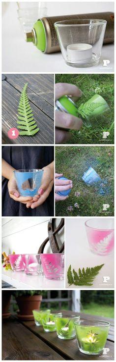 Spray paint tealight holders | A 1 Nice Blog