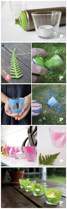 Spray paint tealight holders