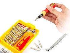 Fiyat:890 tl 32 parçalık Tornavida Seti sayesinde ufak tamir işleriniz için artık tamircilere para ödemeyin!