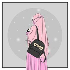 Read 2 from the story Hijabers fanart by RefinaAnnasah with reads. Hijab Anime, Anime Muslim, Muslim Girls, Muslim Women, Cartoon Wallpaper Iphone, Hijab Cartoon, Islamic Girl, Islamic Wallpaper, People Illustration