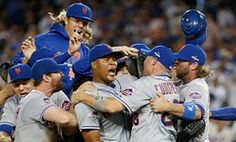 @Guardian-ur copy editors R sleeping on job-read 1st graf - The New York Mets celebrate after edging the Dodgers 3-2.