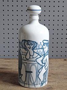 Vintage Altenstadt pottery barmaid bottle