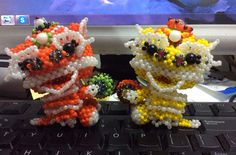 A couple of lion dragon. 1 may 2015
