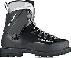 Now with an impressively warm high altitude liner, Scarpa Inverno mountaineering plastic boots provide high-performance support and protection on frigid adventures.