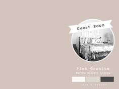 """Paint Color & Accents for Guest Room (via Lost & Fawned)  -  Martha Stewart Living """"Pink Granite"""""""