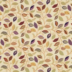 Fabric - All products - Botanical - Paisley Fall Wallpaper, Paper Beads, Abstract Flowers, Pictures To Draw, Drawing, Graphic, Abstract Pattern, Surface Design, Damask
