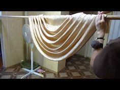 how to make swags and tails curtains(very easy and Beautiful swag) - YouTube