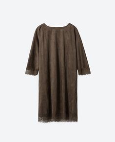 Image 6 of SUEDE EFFECT DRESS from Zara
