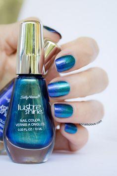 Sally Hansen lustre shine azure & scarab. Click for more details.