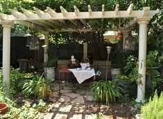 This is one of the best pergola design that I have picked for your comfort. The idea is totally exceptional. It is quite different pergola installment as compared to other. Diy Pergola, Pergola Cost, Small Pergola, Pergola Canopy, Wooden Pergola, Outdoor Pergola, Backyard Pergola, Backyard Landscaping, Gazebo