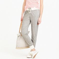 Cute and comfy sweatpants! Perfect for traveling in style. $49.99 at J Crew