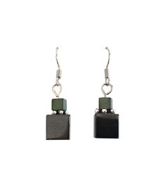 """Earrings with hematite from Collection """"Talea"""" by Ostfriesenkind"""