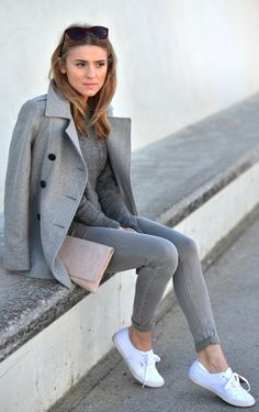Grey, pastel and white!
