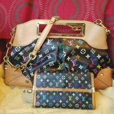 7796f008067b  SET  100% AUTHENTIC LOUIS VUITTON JUDY GM BAG AND LOUIS VUITTON WALLET IN  VGUC