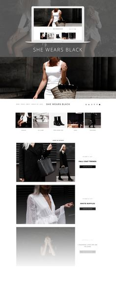 She Wears Black  blog design