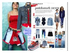"""Tricky Trend: Patchwork Denim"" by yours-styling-best-friend ❤ liked on Polyvore featuring Dsquared2 and DKNY"