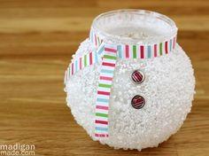 Dollar Store Crafts » Blog Archive » Make an Epsom Salt Snowman Vase