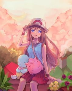 Trainer Blue, gotta luv the gal Pokemon Jigglypuff, Pikachu, Pokemon Manga, Pokemon Fan Art, Pokemon Games, Cute Pokemon, Pokemon Rouge, Pokemon Original, Pokemon Red Blue