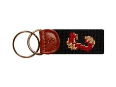 College of Charleston Needlepoint Key Fob | Smathers & Branson