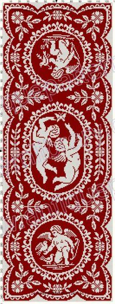 Gallery.ru / Фото #235 - Le Filet Ancien au Point de Reprise III - gabbach Embroidery Patterns Free, Cross Stitch Embroidery, Embroidery Books, Cross Stitch Designs, Cross Stitch Patterns, Cross Stitch Angels, Drawn Thread, Cross Stitch Alphabet, Crochet Tablecloth