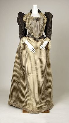 French silk dress 1893-94