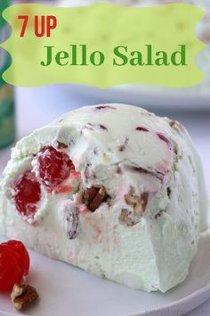 Make this easy Lime Jello Salad for everything from summer picnics to holiday gatherings. It makes a great side dish or dessert. Fluff Desserts, Just Desserts, Easter Desserts, Cold Desserts, Green Jello Salad, Lime Jello Salads, Jello Recipes, Dessert Recipes, Hashbrown Casserole