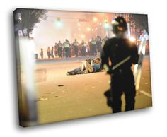 Vancouver Riot Canvas (20 in by 16 in) ($51 USD)