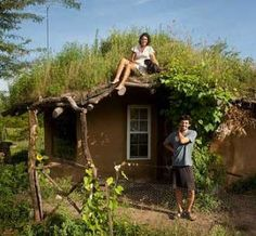 How to build dirt cheap houses. Haha looks like a hobbit home!