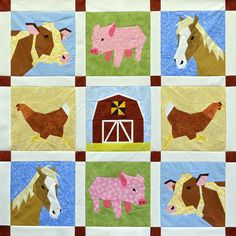 Even if you're not a farm girl, there's no denying the cuteness of this paper-pieced quilt! Bubblestitch's Old MacDonald's Farm highlights an array of adorable farm animals; the piglets, dubbed Louis and Louise, are our favorites! Which block(s) do you like best? $11.99