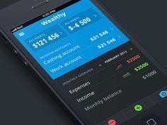 Mobile UI of a unidentified financial app