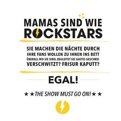 Statement-Poster Mamas sind wie Rockstars A4