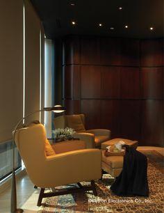 Shading Solutions from Lutron Provide Energy Saving Light Control Light Decorations, Decor, Room Lights, Lutron, Room Inspiration, Motorized Shades, Saving Light, Room, Energy Saver