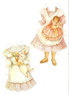 Description:  Name:Old-fashioned Children paper dolls in full color Date: 198...