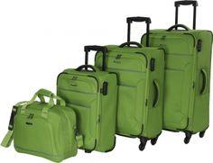 travelite Derby Reiseset Kofferset 4-tlg 80 grün