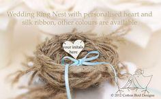 Ring Bearer Pillow Nest  Rustic, Garden or Woodland Weddings