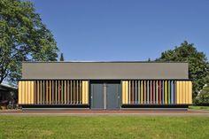 Arhitektura Jure Kotnik | Kindergarten Kekec - Fachada y control de luz.