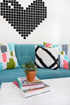 DIY Abstract Pillows