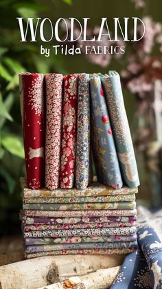 Woodland by Tilda Fabrics is a whimsical collection inspired by the beauty of nature. 🌿 Shop the available FQ Sets and yardage now for the best selection! Shabby Fabrics, Fabric Yarn, Embroidery Thread, Woodland, Sewing Crafts, Whimsical, Quilts, Inspired, Nature