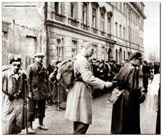 Polish surrender. The Germans agreed to treat Polish combatants as POW rather than partisans and so be protected under the Geneva convention. The entire population of Warsaw was removed from the city. Many ending up in labor camps and concentration camps. - Huge Collection Of The Warsaw Uprising Photos 18  Page 2 of 3  Best of Web Shrine