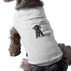 Camisetinha para cachorro com frase camisa sem mangas para cachorro