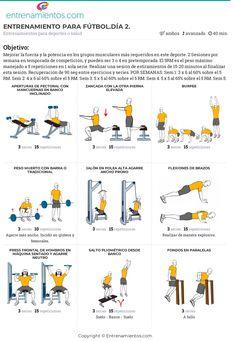 ejercicios de gym para futbolistas