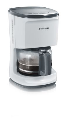 CAFETERA »START« 4489 Blanco-gris Embalaje de 3 unidades. Aprox. 1000 W. Para 10 tazas. Soporte del filtro giratorio extraíble 1 x 4 con válvula anti-goteo. Indicador del nivel de agua Desconexión automática Placa calentadora Interruptor de encendido/apagado con luz piloto Escala de agua fría en la jarra de cristal EAN 4008146011399