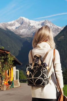 The perfect backpack to carry light, this Orla Kiely backpack is just the thing. I kept it with me for essentials in South Tyrol, Italy, when we went to visit a Hay Farmer
