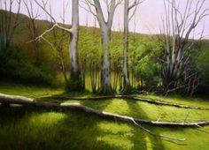 "Saatchi Art Artist Jose Higuera; Painting, ""Spring appear in the way to Moferos. Asturias Spain."" #art"