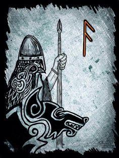 Pagan rune sign