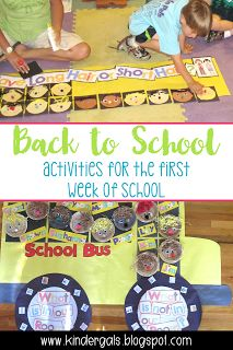 Beginning of the Year Fun for your kindergarten students! Includes activities to use during the first week of school!