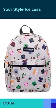 Enjoy exclusive for Bioworld Corp' Minecraft 16 Characters All-Over Print Backpack online - Allproclothing Colorful Backpacks, Boys Backpacks, Backpacks For Sale, School Backpacks, Backpack Online, Backpack Bags, Tote Bag, Kids Lunch Bags, Kids Bags